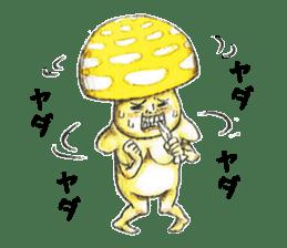 Funny mushroom man sticker #12649680