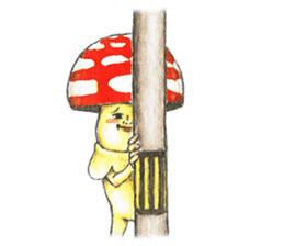 Funny mushroom man sticker #12649681