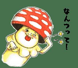 Funny mushroom man sticker #12649683
