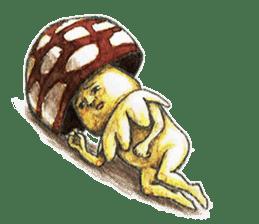 Funny mushroom man sticker #12649685