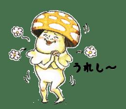 Funny mushroom man sticker #12649687