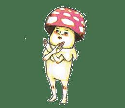 Funny mushroom man sticker #12649688