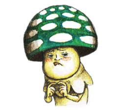 Funny mushroom man sticker #12649690