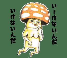 Funny mushroom man sticker #12649691