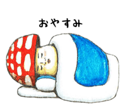 Funny mushroom man sticker #12649693