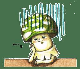 Funny mushroom man sticker #12649694