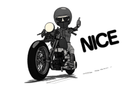 American Motorcycle2 animation sticker #12650991