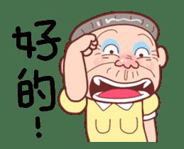 Taiwan Grandmother happy sticker #12654686