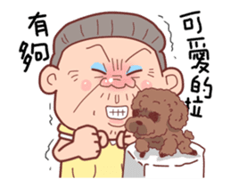 Taiwan Grandmother happy sticker #12654689