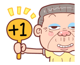 Taiwan Grandmother happy sticker #12654691