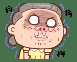 Taiwan Grandmother happy sticker #12654696