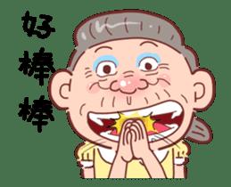 Taiwan Grandmother happy sticker #12654699