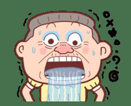 Taiwan Grandmother happy sticker #12654701