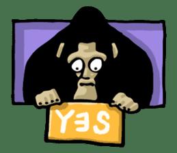 the stupid gorilla sticker #12659511