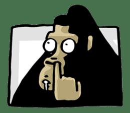 the stupid gorilla sticker #12659514