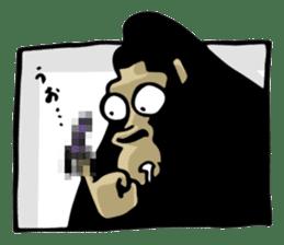 the stupid gorilla sticker #12659515