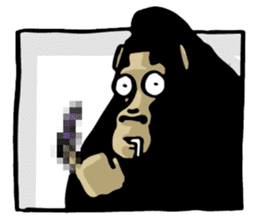 the stupid gorilla sticker #12659516