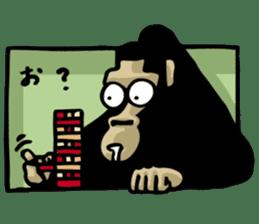 the stupid gorilla sticker #12659523