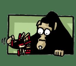 the stupid gorilla sticker #12659525