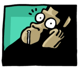 the stupid gorilla sticker #12659545