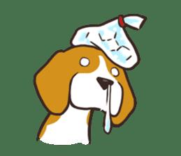 Pun Pun Beagle sticker #12662557