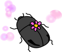 Sweet little bugs sticker #12663424