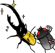 Sweet little bugs sticker #12663435