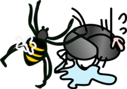 Sweet little bugs sticker #12663436