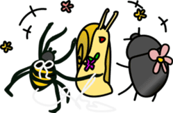 Sweet little bugs sticker #12663461