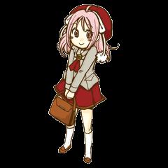 Beribboned beret Sehui-chan