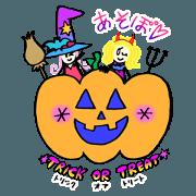 สติ๊กเกอร์ไลน์ Kawaii Witch Girl ZOEL