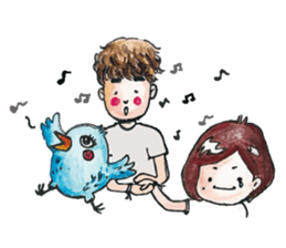 Xavier and Vivi = Xavii sticker #12674500