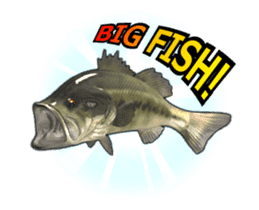 Let's go lure fishing - Black bass - sticker #12681696