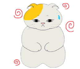 song of a cat sticker #12685007