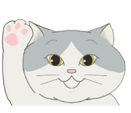 song of a cat sticker #12685020