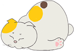 song of a cat sticker #12685026