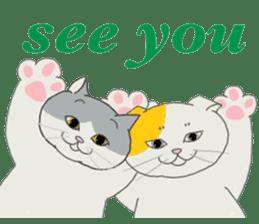 song of a cat sticker #12685045