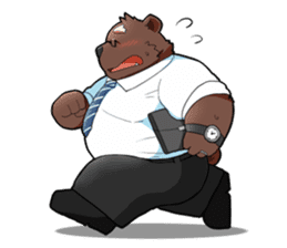 Daily bear dad sticker #12687098