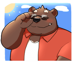 Daily bear dad sticker #12687124