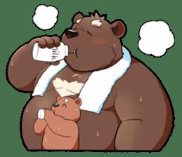 Daily bear dad sticker #12687133