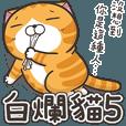偉そうな猫が野次てる 5 | StampDB - LINEスタンプランキング