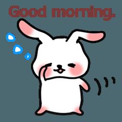 Cute rabbit to speak on your behalf