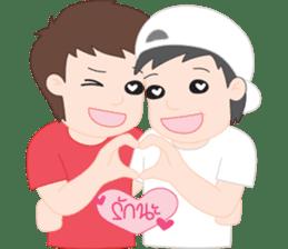 PJ | Cute Gay Couple 01 sticker #12718351