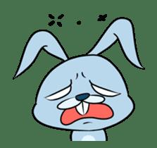 super crazy blue rabbit!!!!!!!!!!!!!!!!! sticker #12732163