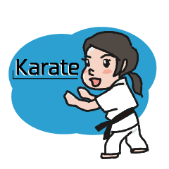 One frame with a karate friend