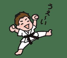 One frame with a karate friend sticker #12737944