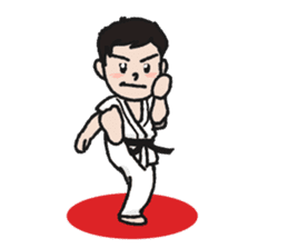One frame with a karate friend sticker #12737946