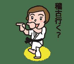 One frame with a karate friend sticker #12737948
