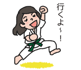 One frame with a karate friend sticker #12737949