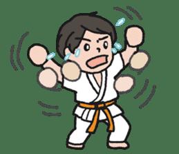 One frame with a karate friend sticker #12737953